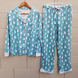 Munki Munki | NEW Snowman Holiday Pajama Set Small